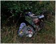 colour photo bag and found objects on waste ground