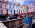 colour photo of row of terraced houses