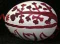 Red painted egg