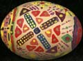 Patterned painted egg