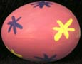 Pink painted egg with flowers
