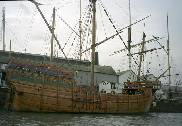 bristol UK Britain england south west pictures city photograph architecture buildings Europe young youth exchange visit holiday knowle west media project escola de bagium This boat is a replica of the original Matthew, in which John Cabot set sail for Asia. Instead of reaching his destination, he arrived in Newfoundland, which is now part of Canada.