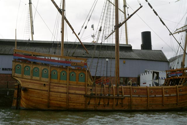 bristol UK Britain england south west pictures city photograph architecture buildings Europe young youth exchange visit holiday knowle west media project escola de bagium In 1997, this replica of John Cabot's boat repeated his original 15th century journey to America.