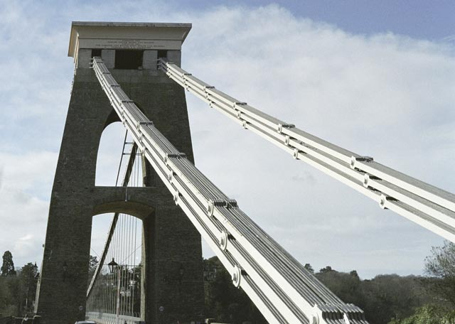 bristol UK Britain england south west pictures city photograph architecture buildings Europe young youth exchange visit holiday knowle west media project escola de bagium portuguese Clifton Suspension Bridge was designed  in the 1800's by Brunel, one of Britain's most famous architects.