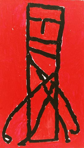 red person abstract standing