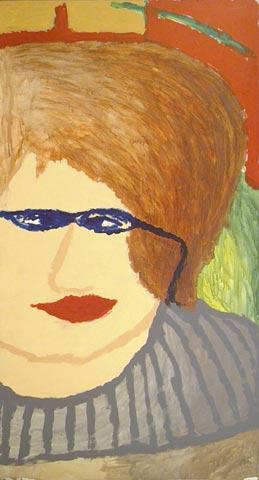 portrait woman glasses