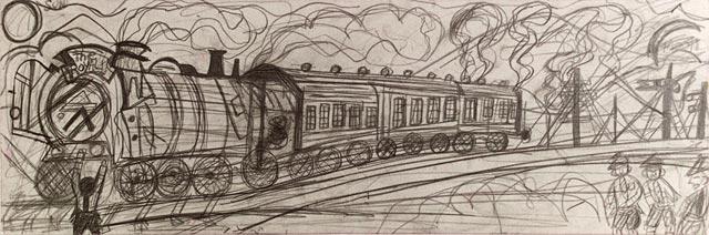India Calcuta steam railway engine locomotive rail tracks smoke