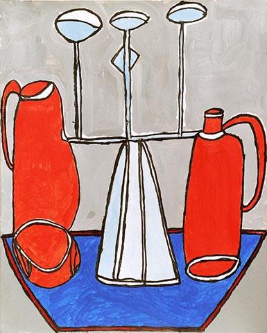 still life jugs candelabra candlesticks
