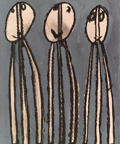 Three figures people group