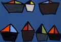7 big boats on blue-grey