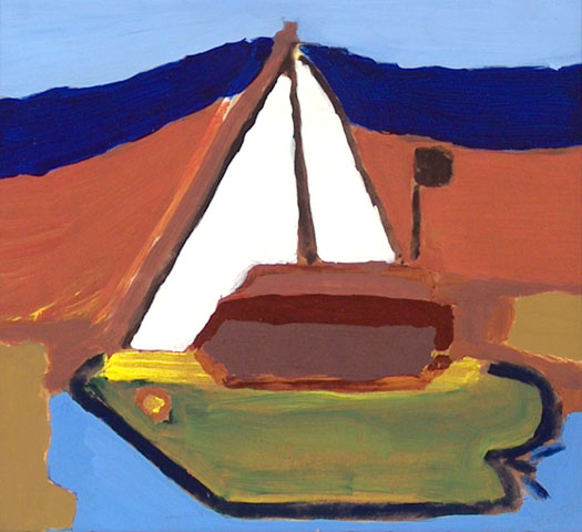 Boat sail water river sea this river winding