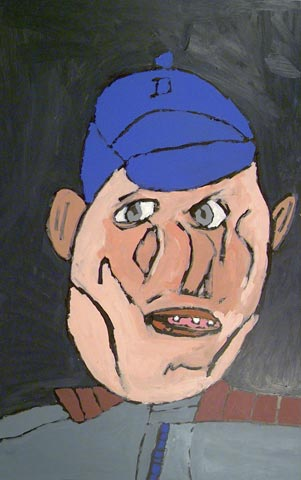 hat cap schoolcap self portrait painting