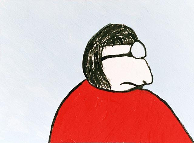 man glasses studying